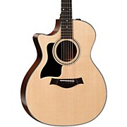 Taylor 300 Series 324ce-SEB-LH Grand Auditorium Left-Handed Acoustic-Electric Guitar