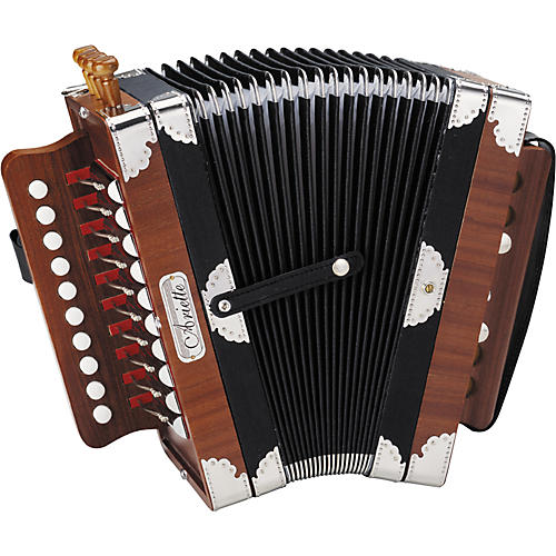 Hohner 3002 Ariette Folk/Cajun Accordion Natural Brown