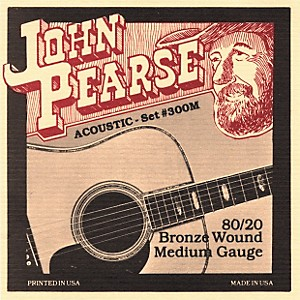 John Pearse 300M 80/20 Bronze Acoustic Guitar Strings by John Pearse