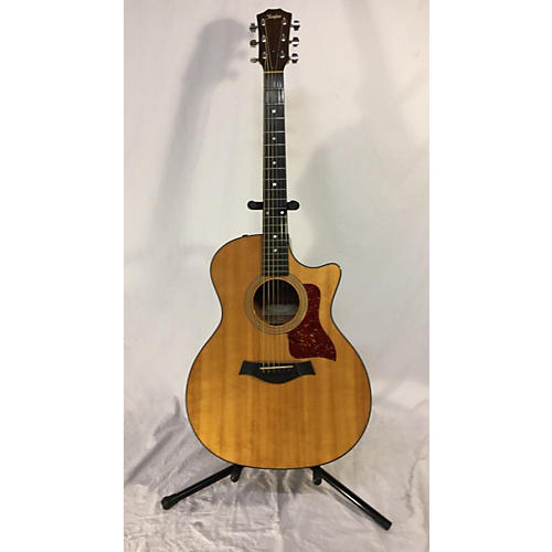 Taylor Ce Cutaway Grand Auditorium Acoustic Electric Guitar Natural Used