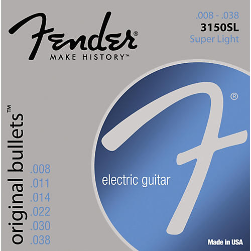 Fender 3150SL Original 150 Pure Nickel Bullet-End Electric Guitar Strings - Super Light-thumbnail