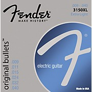 Fender 3150XL Original 150 Pure Nickel Bullet-End Electric Guitar Strings - Extra Light