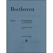 G. Henle Verlag 32 Variations C Minor WoO 80 By Beethoven