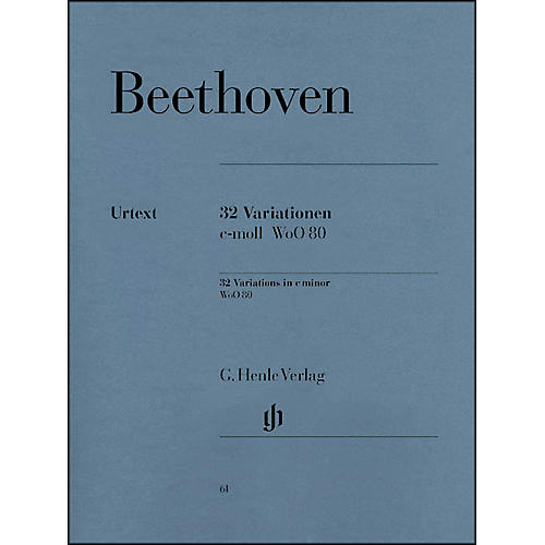 G. Henle Verlag 32 Variations C Minor WoO 80 By Beethoven
