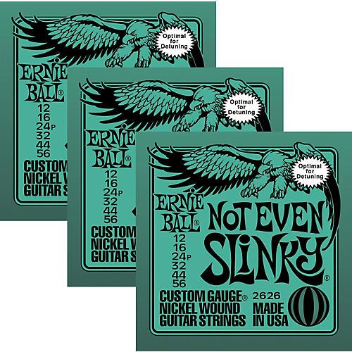 Ernie Ball 3226 Nickel Not Even Slinky Electric Guitar Strings 3-Pack