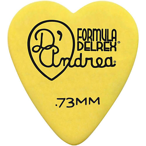 D'Andrea 323 Heart Delrex Delrin Picks - One Dozen-thumbnail