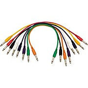 Musician's Gear 1/4 - 1/4 Patch Cable 8-Pack (17