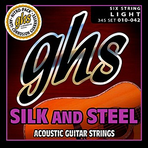 GHS 345 Silk and Steel Acoustic Guitar Strings Light by GHS