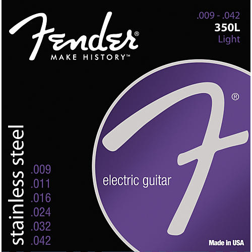 Fender 350L Stainless Steel Electric Guitar Strings - Light