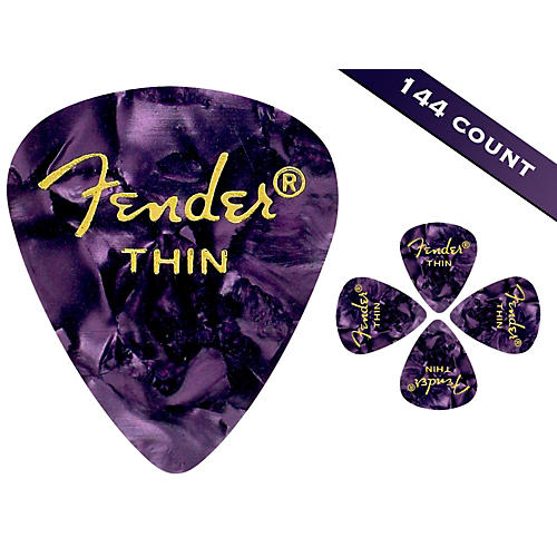 Fender 351 Premium Thin Guitar Picks - 144 Count-thumbnail