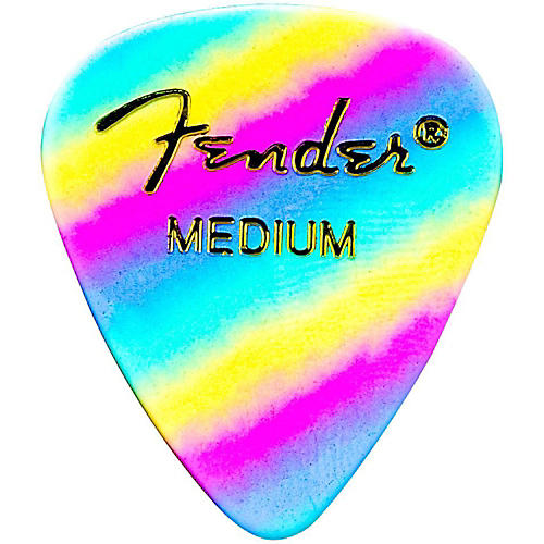 Fender 351 Shape Premium Picks Thin Rainbow Celluloid - 12-Pack-thumbnail