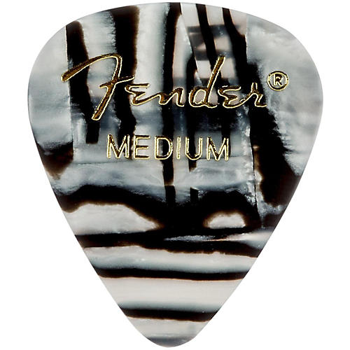 Fender 351 Shape Premium Picks, Zebra Celluloid-thumbnail