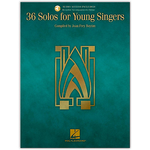 Hal Leonard 36 Solos for Young Singers (Book/Online Audio)-thumbnail