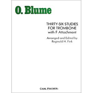 Carl Fischer 36 Studies for Trombone with F Attachment by Carl Fischer