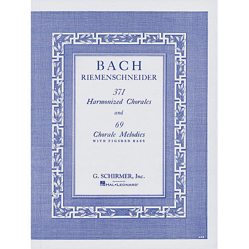 G. Schirmer 371 Harmonized Chorales & 69 Chorale Melodies with Figured Bass By Bach-thumbnail
