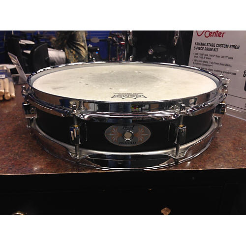 Pearl 3X13 Piccolo Black Steel Drum-thumbnail