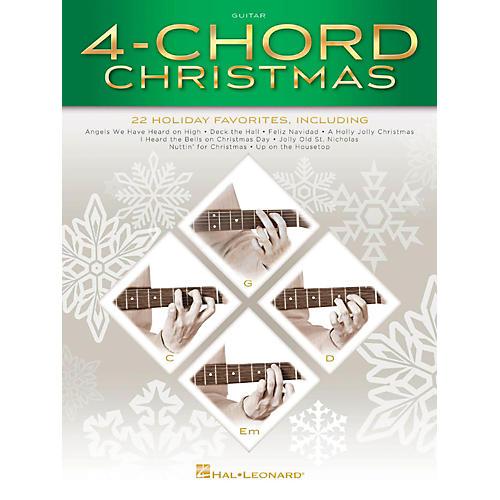Hal Leonard 4-Chord Christmas (G-C-D-Em) Guitar Songbook-thumbnail