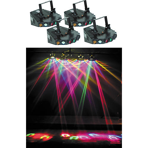 Eliminator Lighting 4-Head Tracker Light Effects System