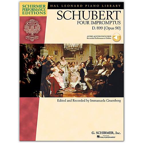 G. Schirmer 4 Impromptus, Op. 90 - Piano - Schirmer Performance Edition Book/CD By Schubert / Gruenberg