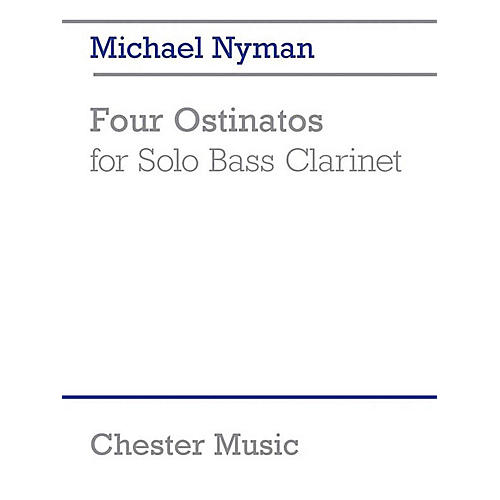 Chester Music 4 Ostinatos for Solo Bass Clarinet Music Sales America Series Softcover