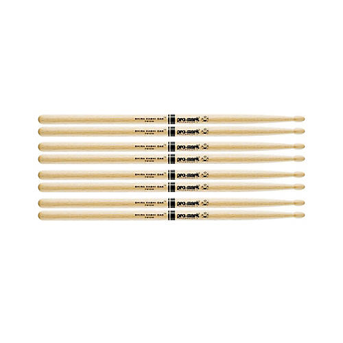 PROMARK 4 Pair Japanese White Oak Drumsticks Wood Tip 5B
