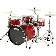 Pork Pie 4-Piece Candy Red/Black Satin Shell Pack