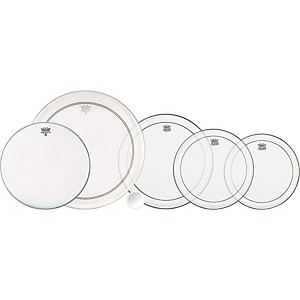 Remo 4-Piece Clear Pinstripe Pro Pack with Free 14 in. Coated Ambassador Sn...
