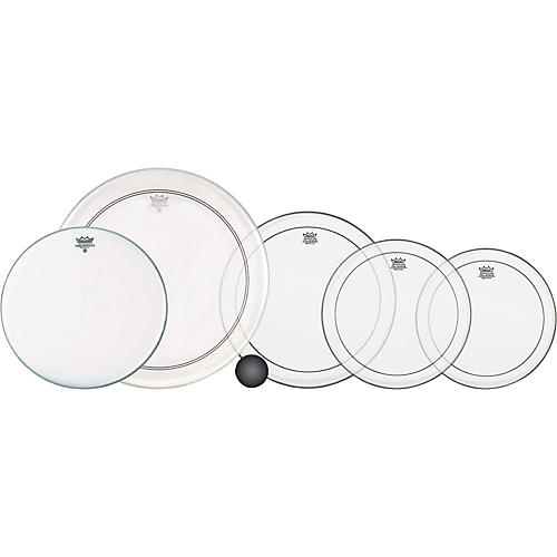 Remo 4-Piece Clear Pinstripe Standard Pro Pack with Free 14 in. Coated Ambassador Snare Drum Head-thumbnail