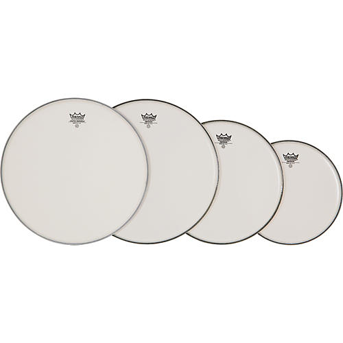 Remo 4-Piece Emperor Smooth White Batter Head Pre-pack  Fusion
