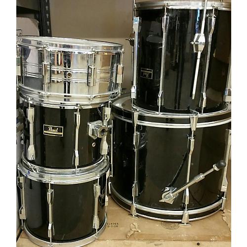Pearl 4 Piece Export Black Drum Kit