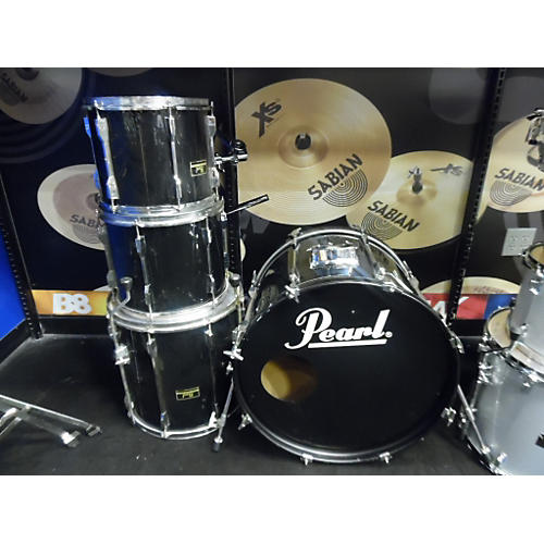 Pearl 4 Piece Export Black Drum Kit-thumbnail