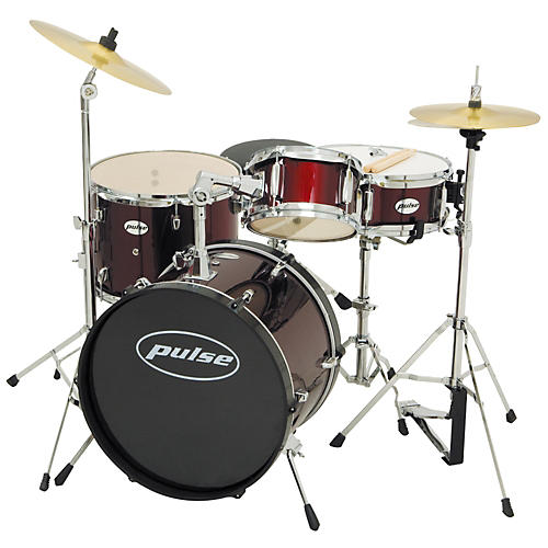 Pulse 4-Piece Junior Drum Set with Cymbals