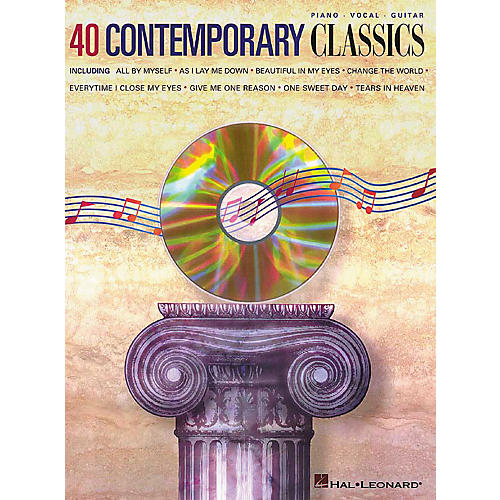 Hal Leonard 40 Contemporary Classics Piano, Vocal, Guitar Songbook