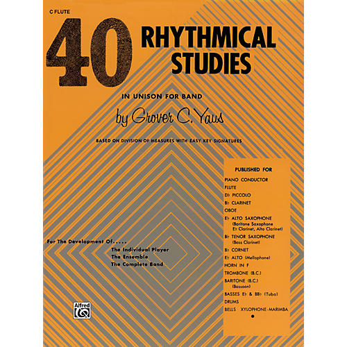 Alfred 40 Rhythmical Studies C Flute (Piccolo)-thumbnail