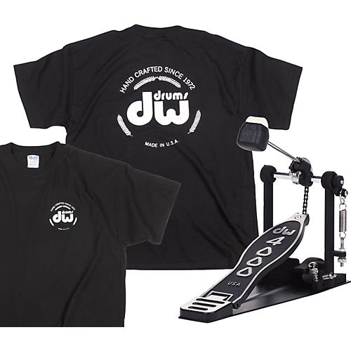 DW 4000 Single Pedal with Free Classic Logo T-Shirt-thumbnail