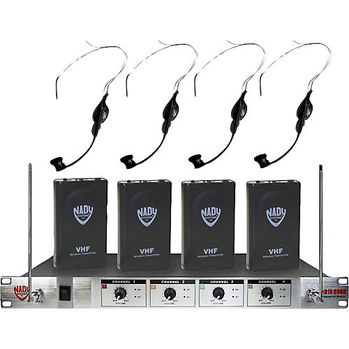 Nady 401X Quad HM-1 Headset Wireless System A/B/D/N