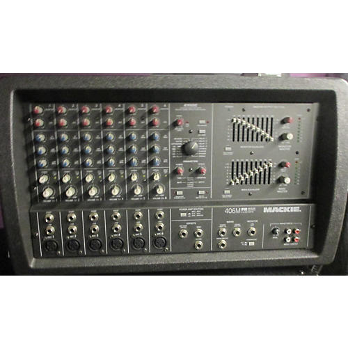 used mackie 406m fr series powered mixer guitar center. Black Bedroom Furniture Sets. Home Design Ideas