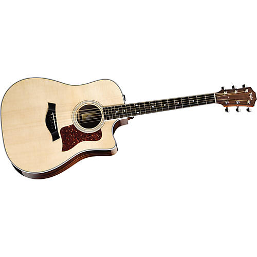 Taylor 410ce-L Ovangkol/Spruce Dreadnought Left-Handed Acoustic-Electric Guitar