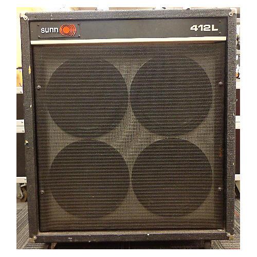 Sunn 412L Black Guitar Cabinet