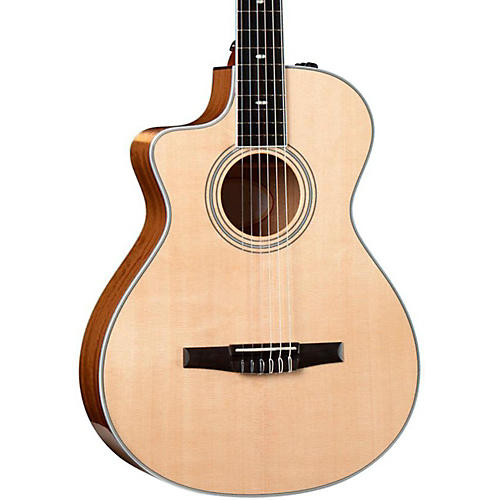 Taylor 412ce-N-L Ovangkol/Spruce Nylon String Grand Concert Left-Handed Acoustic-Electric Guitar-thumbnail