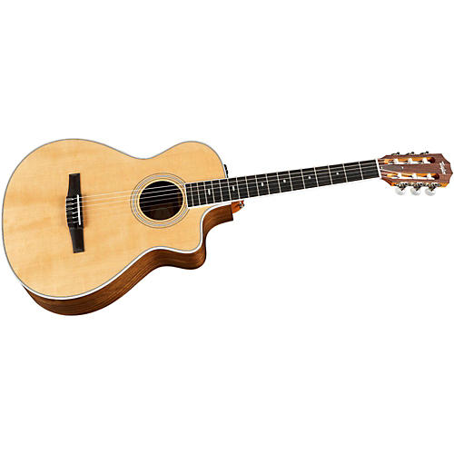 Taylor 412ce-N Ovangkol/Spruce Nylon String Grand Concert Acoustic-Electric Guitar Natural