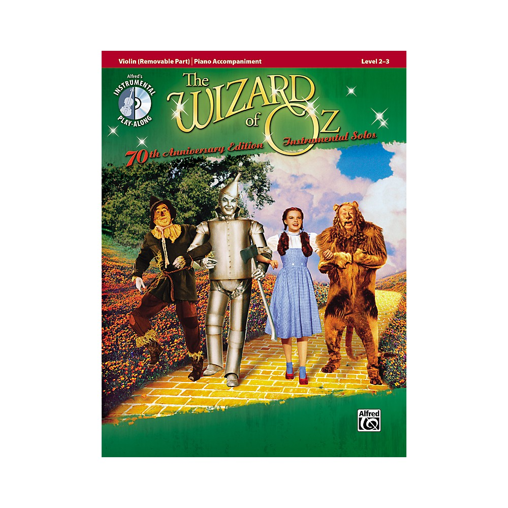 Alfred The Wizard of Oz 70th Anniversary Edition Instrumental Solos: Violin (Songbook/CD) 1273887984361