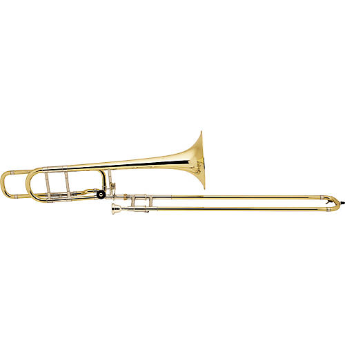 Bach 42BO Stradivarius Series F-Attachment Trombone Lacquer Gold Brass Bell Lightweight Slide-thumbnail