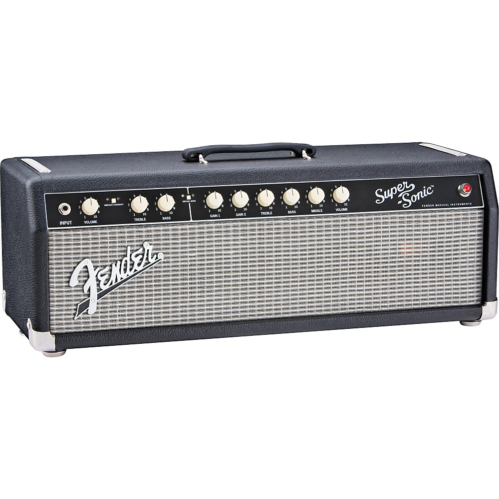 Fender Super-Sonic 60 60W Tube Guitar Amp Head Black