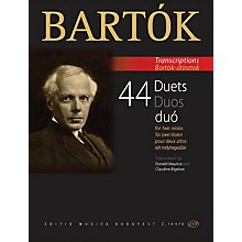 Editio Musica Budapest 44 Duets for Two Violas (From the 44 Violin Duets) EMB Series Softcover Composed by Bela Bartok