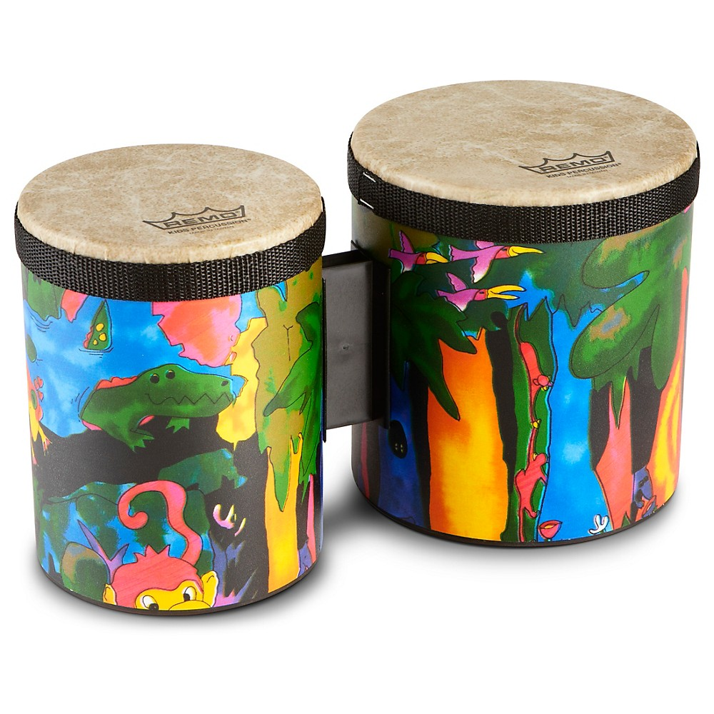 Remo Kid's Percussion Rain Forest Bongos 1274034491729