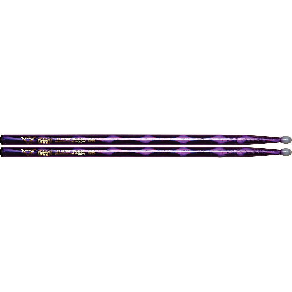 Vater Colorwrap Nylon Tip Sticks - Pair Purple Optic 5B 1301341944543