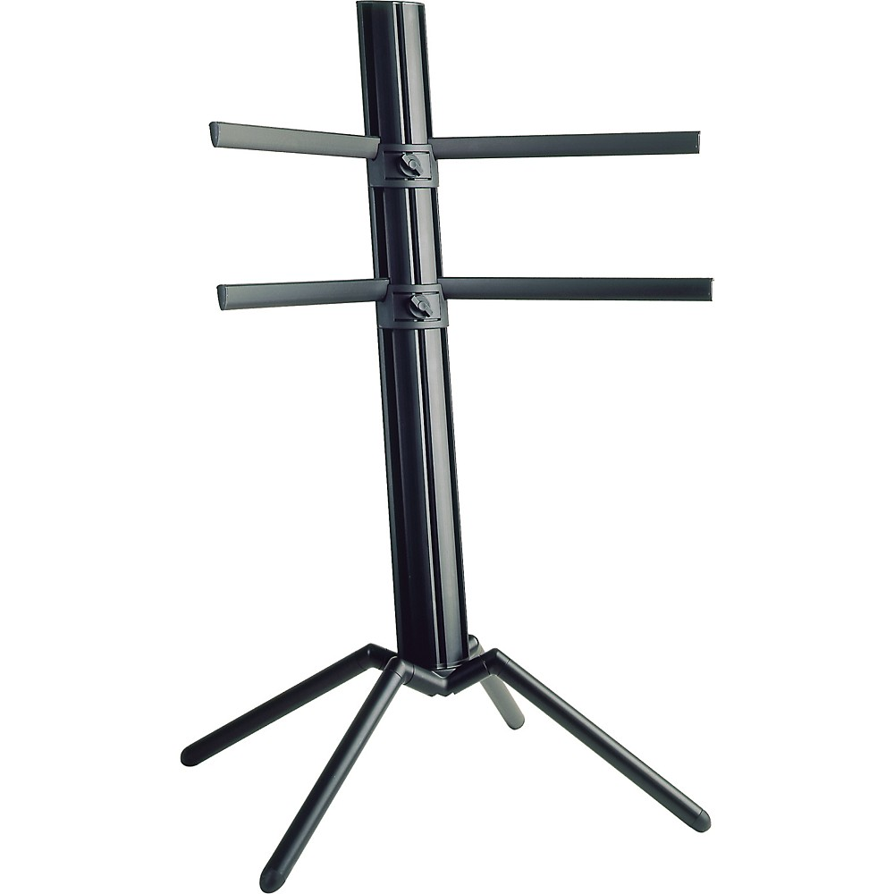 K&M The Spider Double Tier Column Keyboard Stand Black 1274115037219