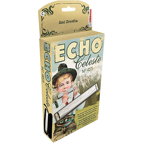 Hohner 455 Echo Celeste Tremolo Harmonica-thumbnail