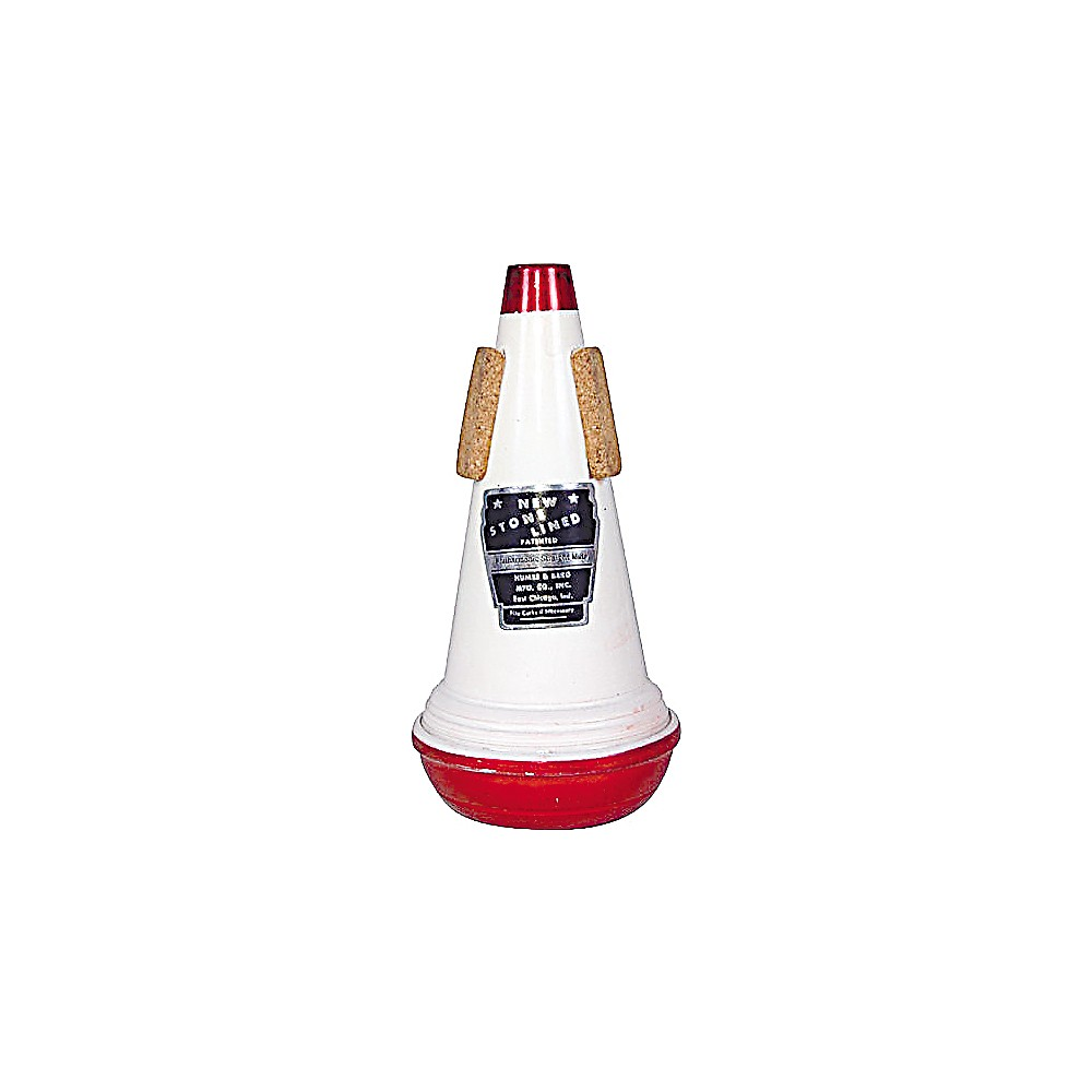 Humes & Berg Stonelined Series Trumpet Straight Mute 106 Symphonic Red / White Aluminum 1274115036062